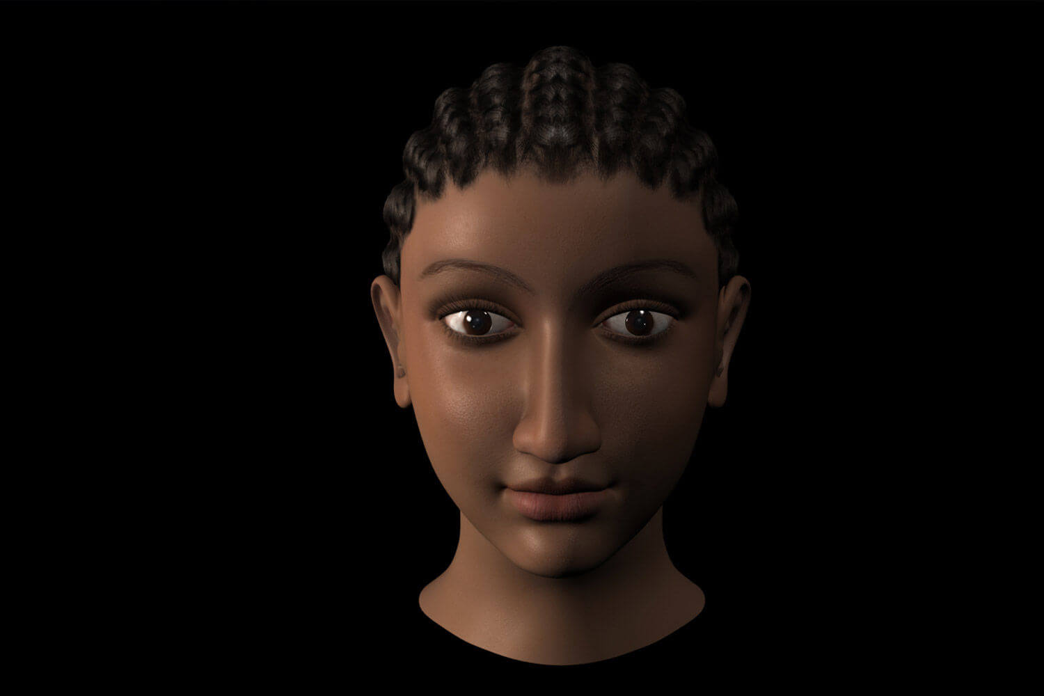 Render Visualisation of the Real Face of Cleopatra