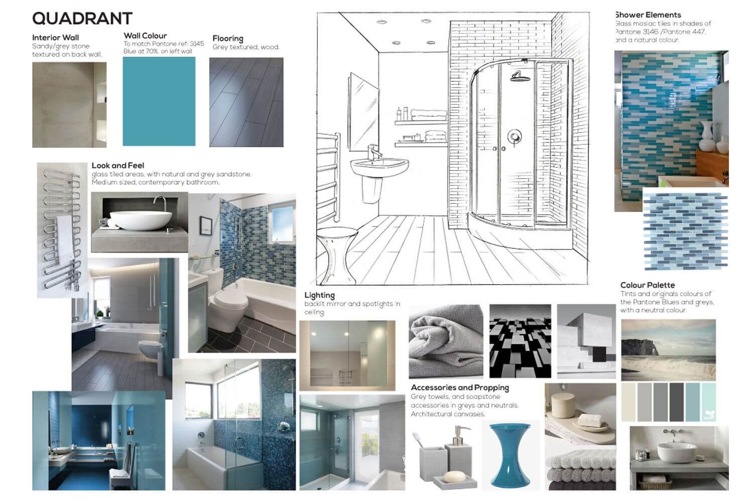 Bathroom CGI Render Moodboard