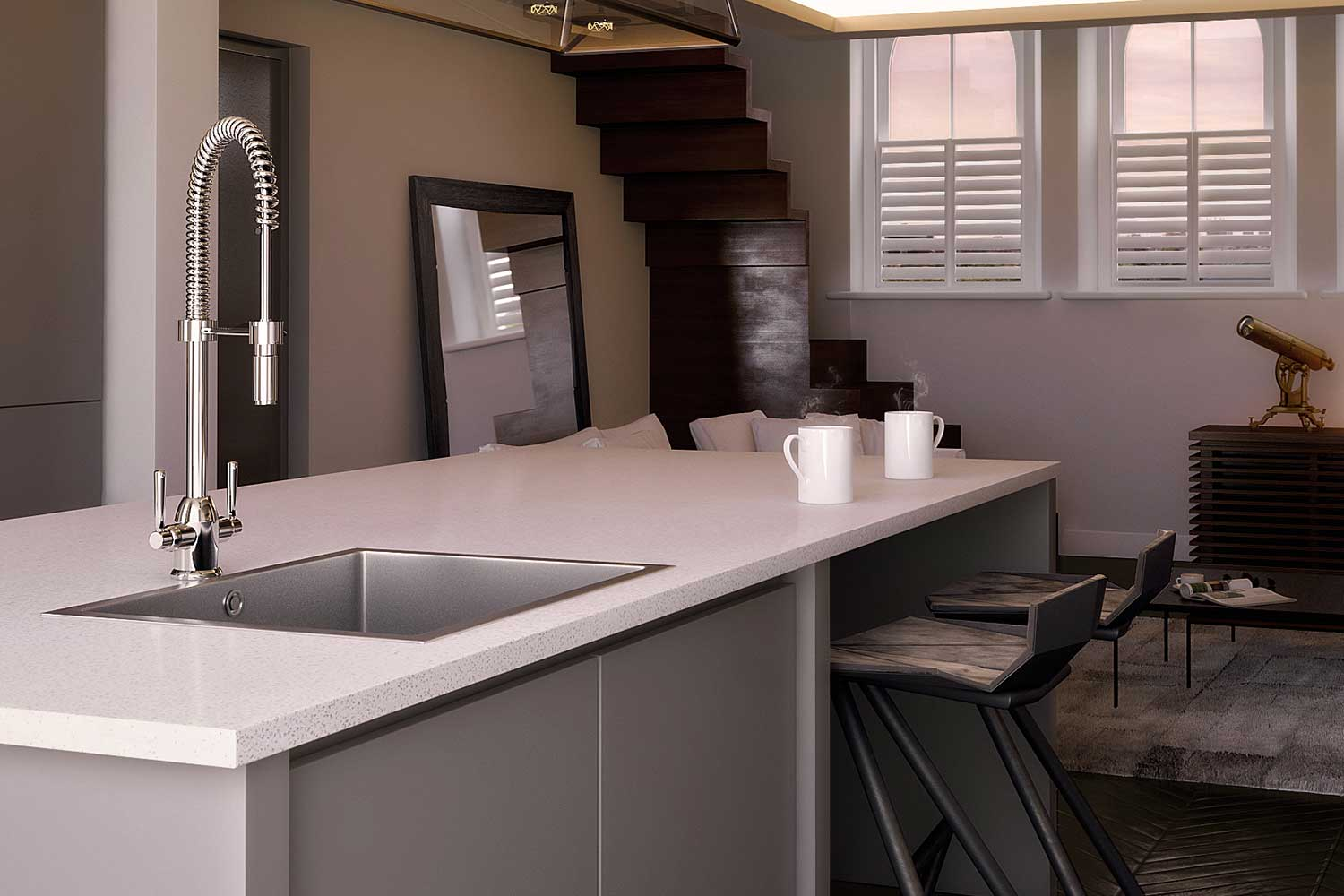3D Kitchen Render