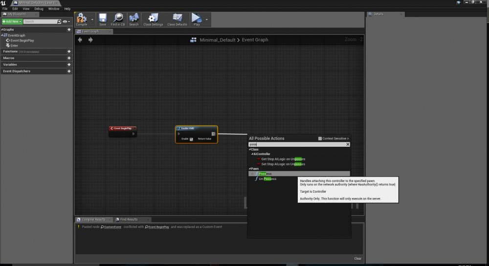 Hotspots in Unreal Engine for VR