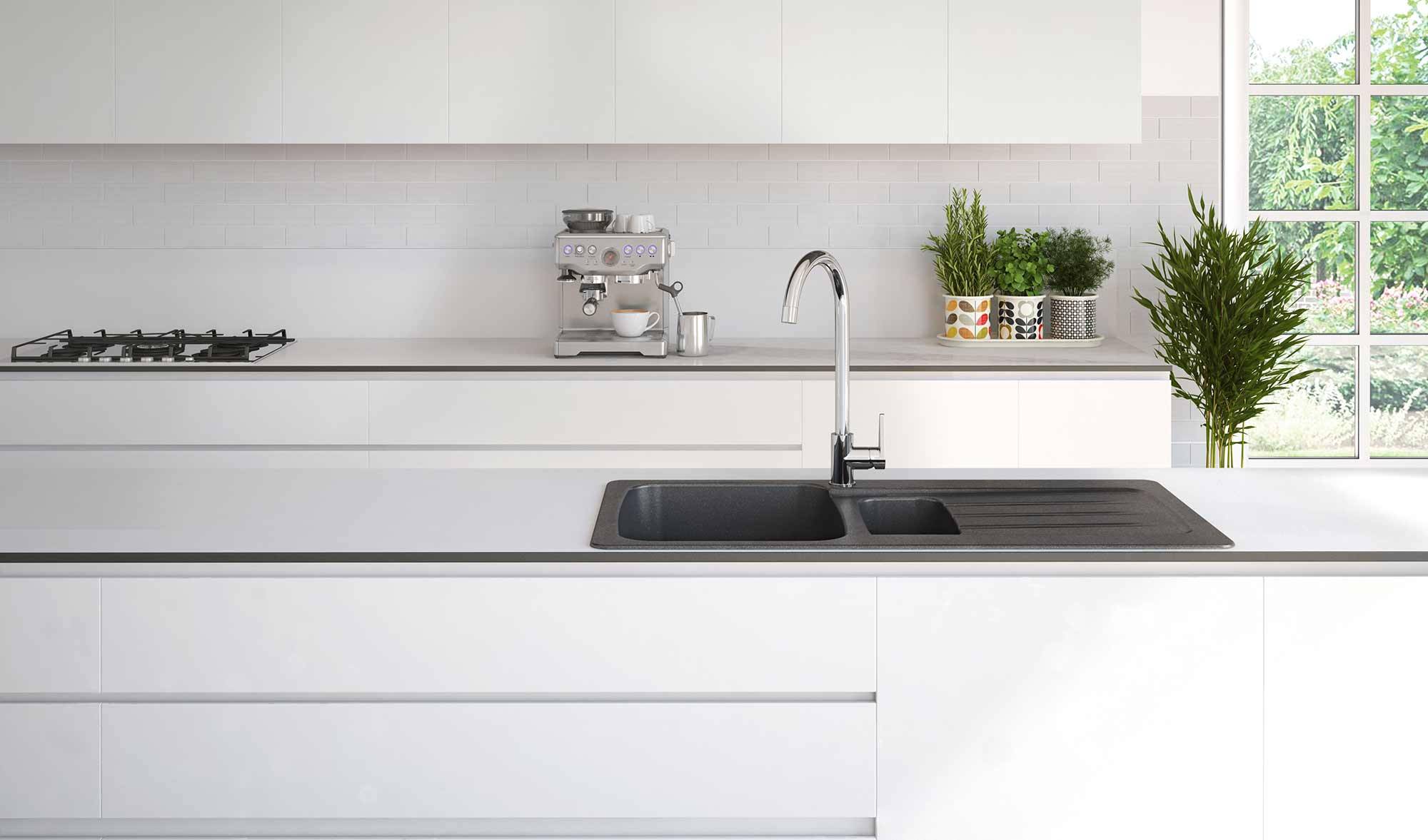 CGI of Brassware in Kitchen Setting