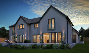 Property Development CGI Specialist - Exterior House Alternative Lighting Image Foundry
