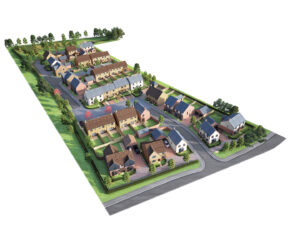 3D Property Exterior - Property Site Plan Image Foundry