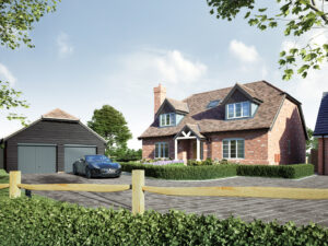 3D Render of Exterior House Design Image Foundry