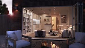 3D Visualiser - Exterior Property Alternative Lighting Image Foundry