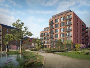 CGI Property Visuals - Exterior Apartment Photomontage Image Foundry