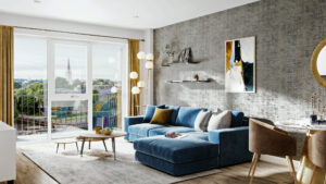 Room Set Photography Rendering - Living Room Image Foundry
